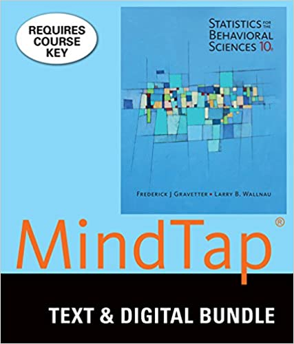 Amazon bundle statistics for the behavioral sciences loose bundle statistics for the behavioral sciences loose leaf version 10th mindtap psychology 1 term 6 months printed access card 10th edition fandeluxe Images