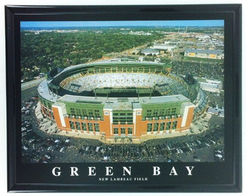 Lambeau Field Framed - New Lambeau Field Football Green Bay Packer Framed Print Wall Art F7547A