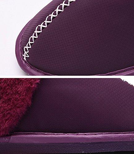 Hevinle Pantofole Da Casa Calde Morbide E Accoglienti Per Donna Rosa Rossa