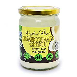 Ceylon Pure Organic Creamed Coconut, 17 Ounce
