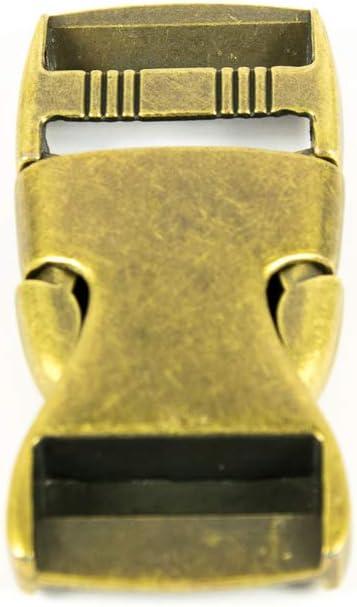 Metall Steckschnalle 25 mm messing Preis gilt f/ür 1 St/ück