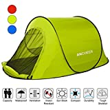 ANCHEER Portable 2 Person Camping Tent for Kids & Adults - Waterproof Pop Up Backpacking Camping Dome Tent for Outdoor Sports - Beach Hiking Fishing (Blue1)