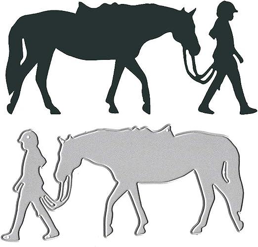 Cute Horse Metal Cutting Dies For Scrapbookings Embossing DIY Paper Cards Decors