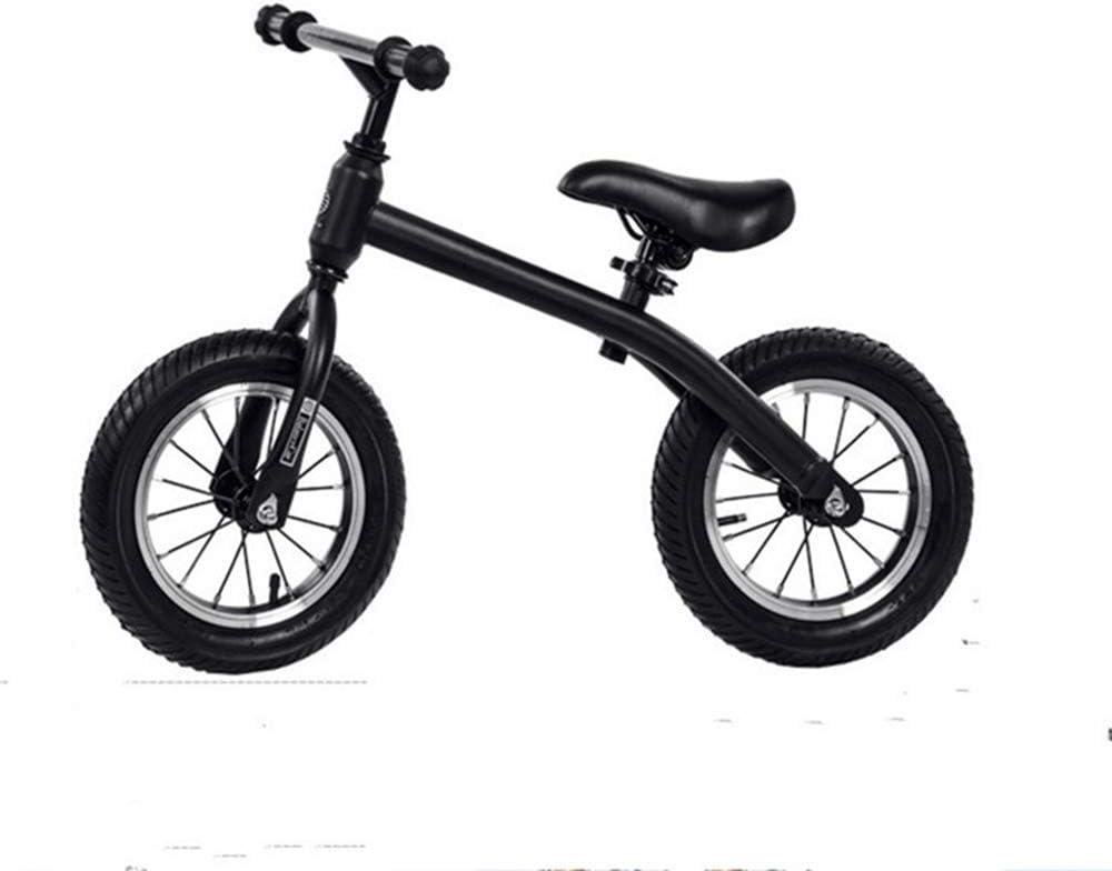 T-XYD Los niños de Bicicletas, Bicicletas sin Pedales, 12 Pulgadas Marco de Acero de Alto Carbono, por 2-6 años Los niños (Altura Recomendada de 80-120 cm) 4 Color