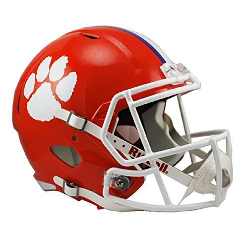 Riddell NCAA Clemson Tigers Full Size Speed Replica Helmet, Orange, Medium