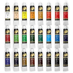Acrylic Paint Set - 24 x 12ml Tubes - Heavy Body - Lightfast - Artist Quality Paints - MyArtscape