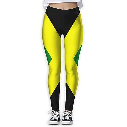 e730d3b510 Jamaican Flag Women's Full-Length Sports Running Yoga Workout Leggings  Pants Stretchable S