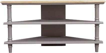 Mason and Bailey 39831 - Mueble esquinero para televisor con 2 estantes, Color Gris: Amazon.es: Electrónica