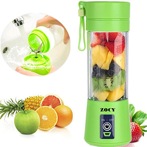 ZOCYE Juicer Blender For Shakes And Smoothies Personal Blender Bottle Smoothie Blender USB Rechargeable For Travel Beach 380ml