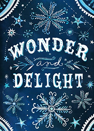 Wonder and Delight Boxed Holiday Greeting Cards with Silver Foil Accents