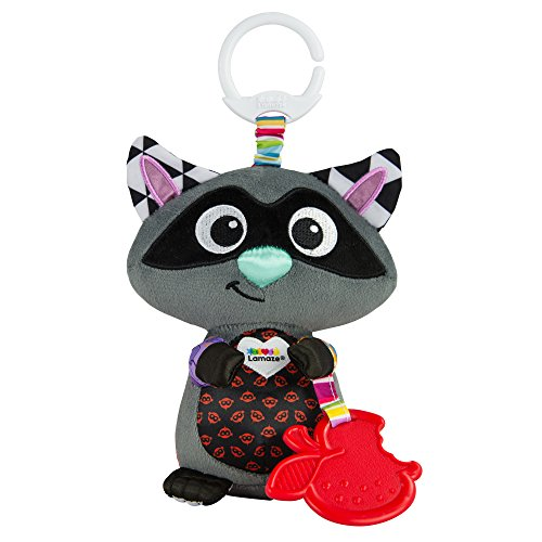 (Lamaze Disney/Pixar Clip & Go, Raccoon Clip-On Stroller)