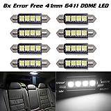 98 silverado dome light cover - Partsam 8) Xenon White 42MM 4SMD Error Free festoon LED Bulbs For Car Interior light For 2007-2012 Ford F-250 Super Duty