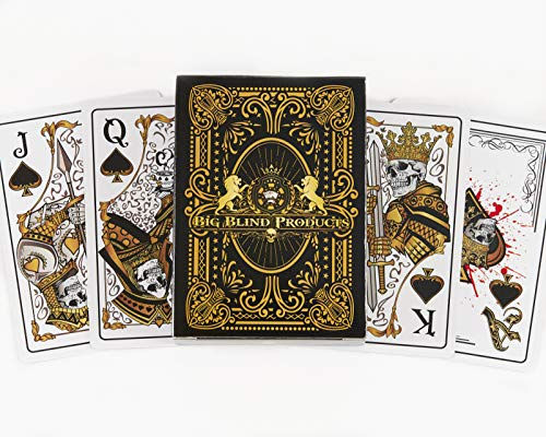 Big Blind Products Sleek Original Hand Drawn Designs Dead Money PVC Playing Cards-Water Proof Deck of Cards