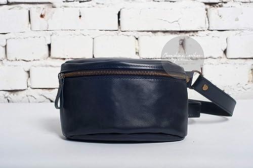 Leather Hip Bag Fanny pack Hip bag Personalized bag Belt bag Gift for him Leather crossbody Bum bag Mens belt bag Waist bag
