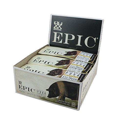 Epic All Natural Meat Bar, 100% Natural, Pulled Pork, 1.5 ounce, 12 Count