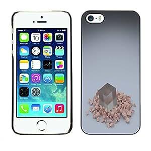 PC/Aluminum Funda Carcasa protectora para Apple Iphone 5 / 5S Cube / JUSTGO PHONE PROTECTOR