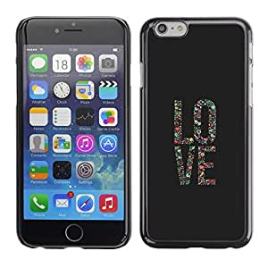 Plastic Shell Protective Case Cover    Apple iPhone 6    Vignette Art Poster Grey Text @XPTECH
