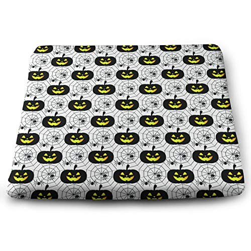 Agem Household Items Premium Comfort Square Pillow Halloween Pumpkin Smiley Spider Black Pillows Cushion Durable Square Chair -