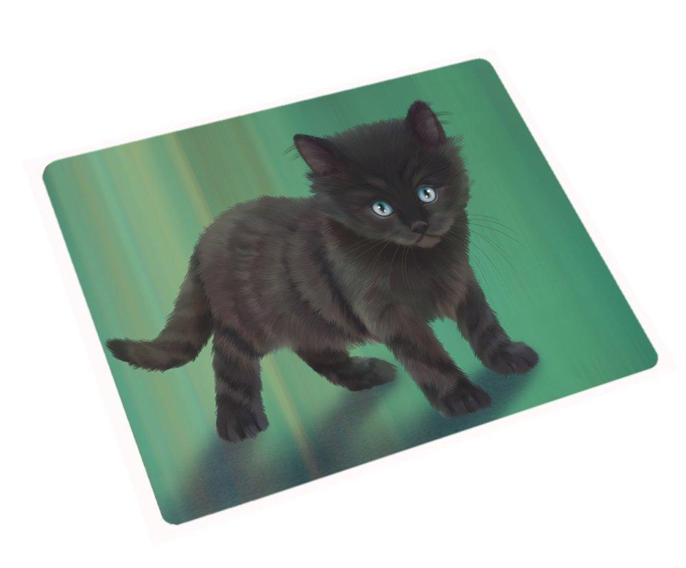 Black Kitten Cat Rectangle Envelope Seals (20)