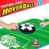 Air Hockey Table Soccer Games- Desktop Mini Hover Ball with 2 Gates Set Board Game Fitness Sports Air Power Training Football Family Party Favors Supplies Gift for Kids Girls Boys Children Adult Teen