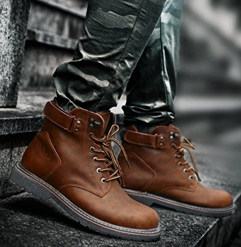 Rindsleder Wandern Brown 2017 Neue Komfort Mittelstiefel Militärische Herren Stiefel Taktische Casual Schuhe Rutschfeste Retro Martin LINYI gzqxZpnwPP