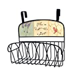 Stupell Home Décor When In Doubt Take A Bath Over The Door Organizer Basket, 11 x 11 x 6, Proudly Made in USA