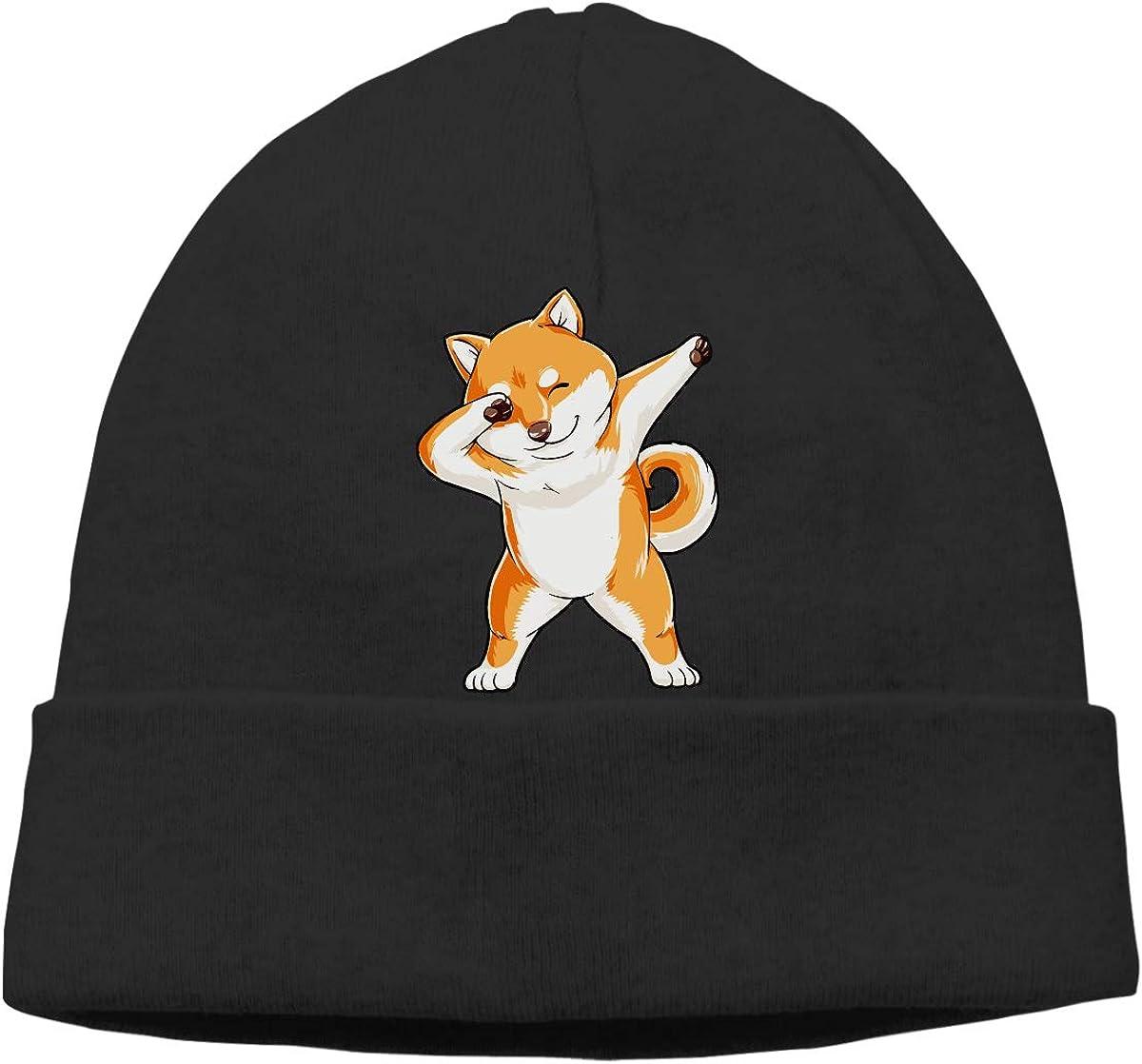Wool Skull Cap BF5Y3z/&MA Mens and Womens Dabbing Doge Shiba Inu Knitting Hat