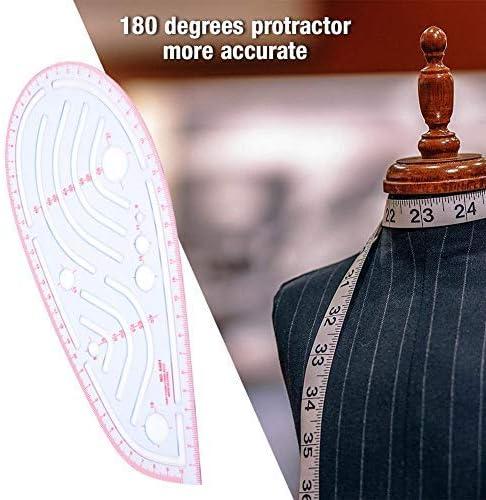 herramienta de costura para disfraz l/ínea incorporada con 0-65 mm Versi/ón de ropa de regla de graduaci/ón manga con agujero para el brazo