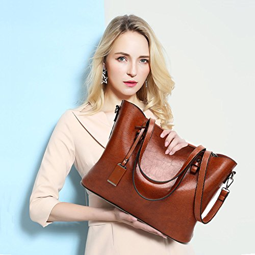 Bag Coffee Handbags BNWVC Purse Handle Top Women Tote Satchel Shoulder xOwW8BF6qw