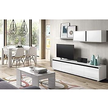 HABITMOBEL Pack Salon: Mueble de Comedor Moderno + Mesa de ...