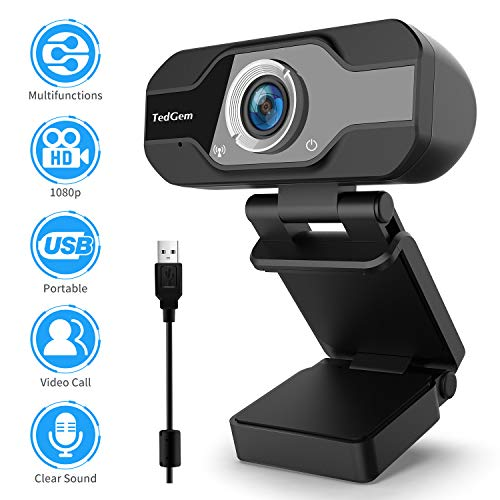 Webcam-for-Laptop-USB-TedGem1080P-PC-Camera-Webcam-Computer-Camera-with-Microphone-for-Streaming-Video-Calling-and-Recording-Gaming-Supports-Windows-Android-Linux