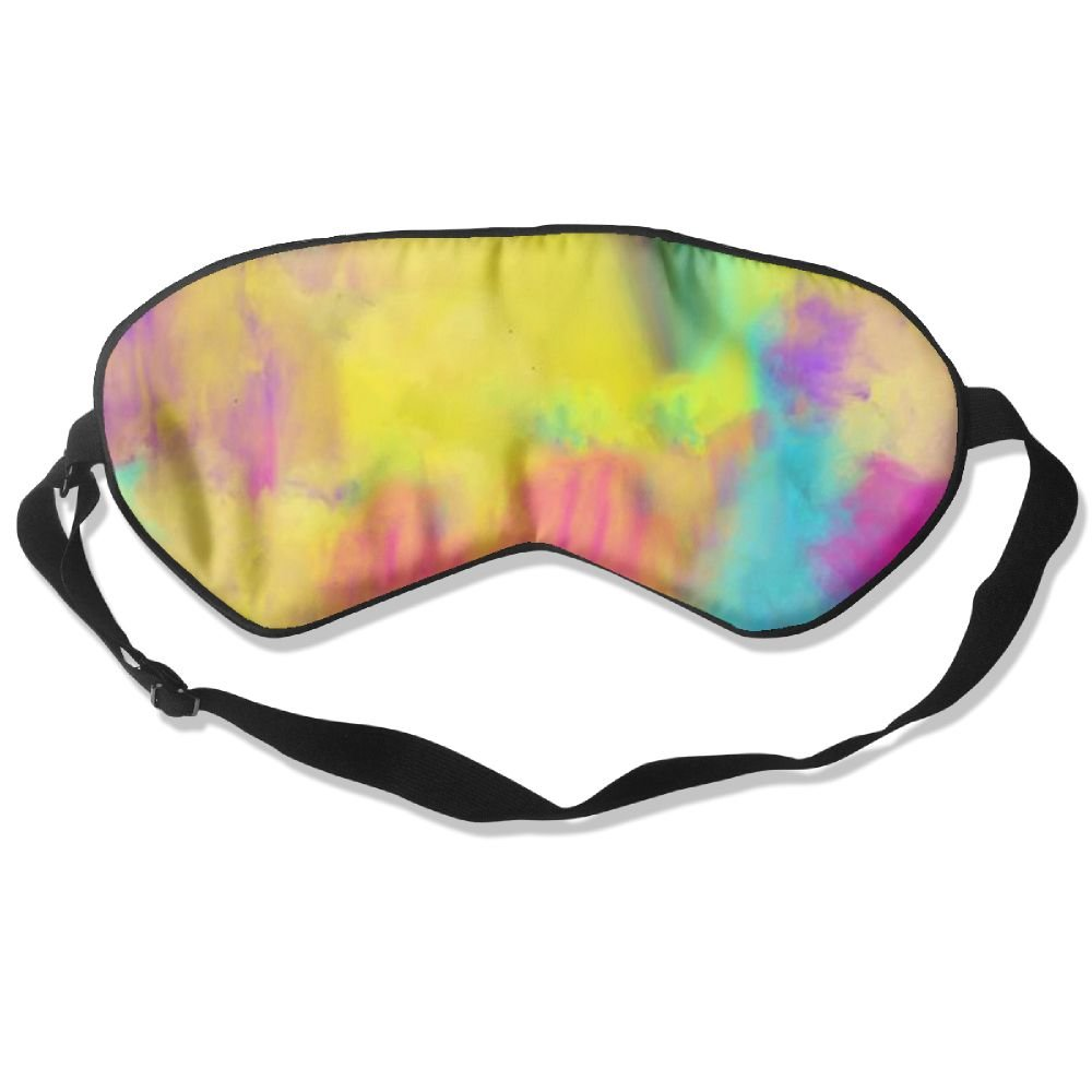 Lnrd Watercolor Stain Soft Silk Travel Eye Cover Adjustable Flights Sleep Mask