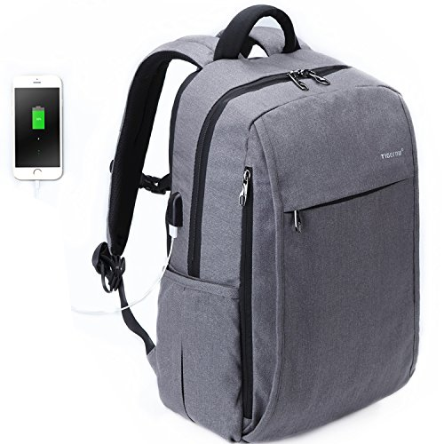 uoobag Tigernu Series Business Laptop Backpack Slim Anti Theft Travel Computer Backpacks Environmentally Waterproof Laptops Bag For Men/Women with USB Charging Port 15.6Inch (Mpc Pc Laptop Computers)