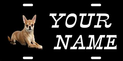CHIHUAHUA MONOGRAM Add Your Name License Plate FREE SHIPPING