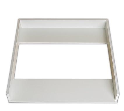 Cambiador superior adecuado (blanco) para todas las cómodas Malm de IKEA
