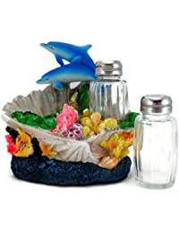 CheckOut 3D Dolphin Coral Reef Ocean Salt & Pepper Shakers Table Set by IAC International offer