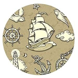 alfombrilla de ratón Conjunto marinero - ronda - 20cm