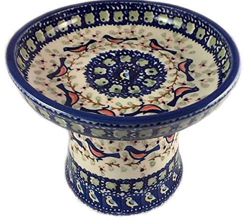 polish-pottery-raised-cat-dog-stoneware-wet-canned-fresh-food-dish-bowl-limited-edition-signature-bb
