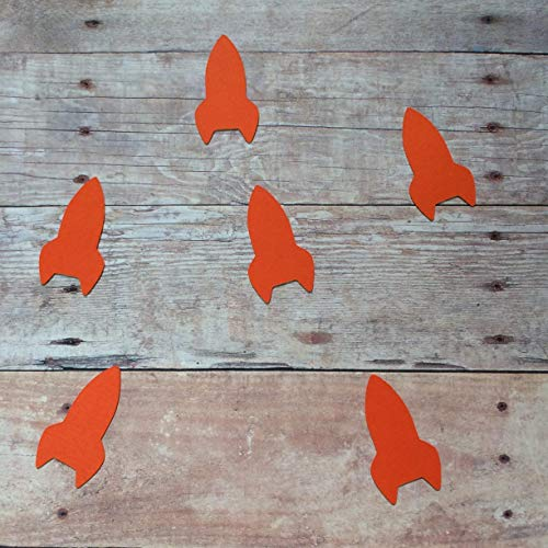 Rocket Confetti, Outer Space Decorations, Birthday Party Supplies, Outer Space Theme, Space Decorations, Rocket Theme, Rocket Cut Out (Confetti Rockets)