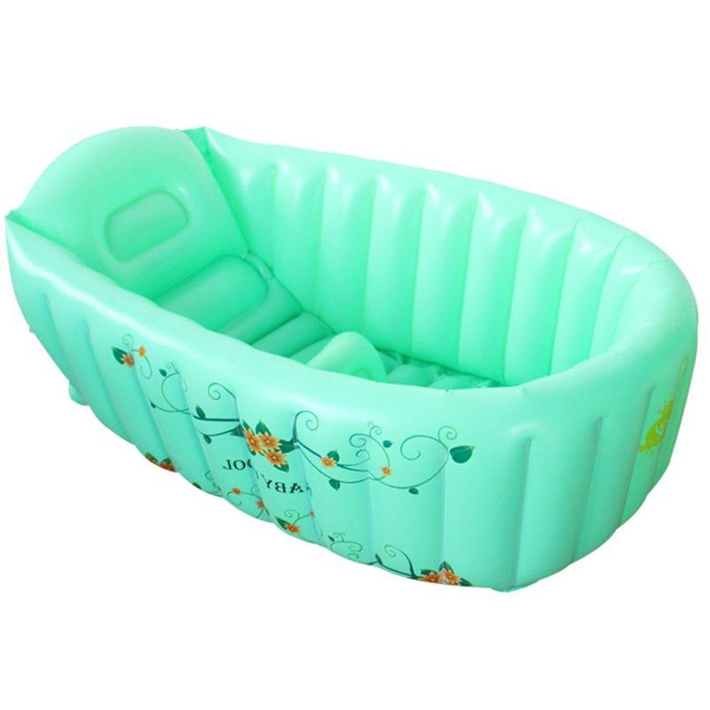 Durevole Elegante Vasca da bagno gonfiabile, protezione ambientale in plastica Casa di salute in PVC multifunzione Vasca da bagno per bambini Gioco piscina ispessimento Pieghevole Vasca da bagno per b