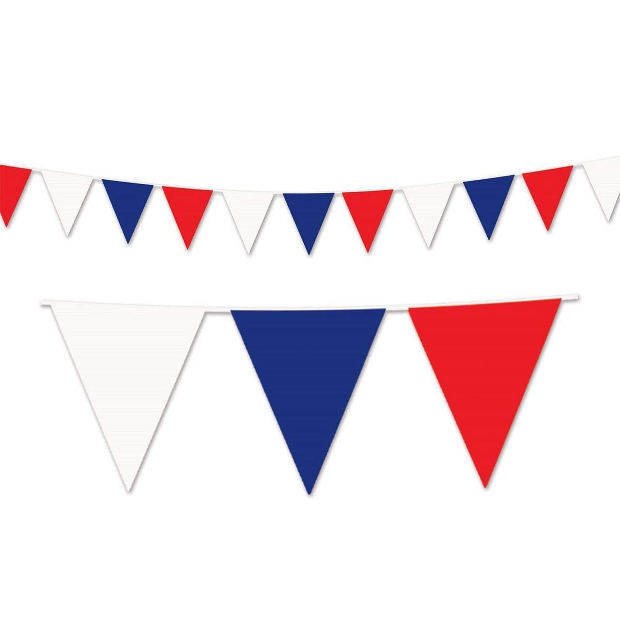 Patriotic Outdoor Pennant Banner 17in. X 30ft., Pkg/12