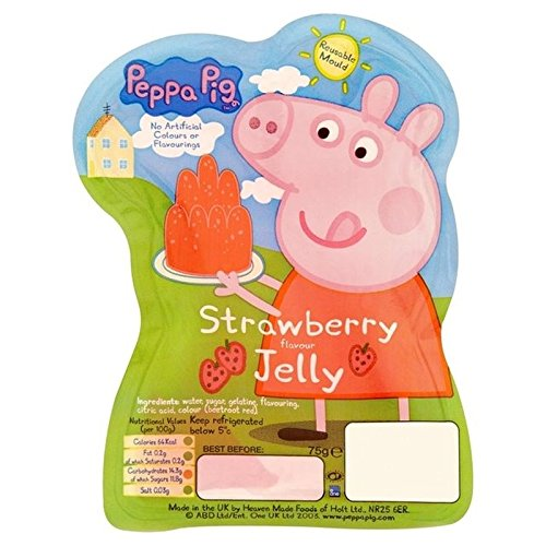 Peppa Pig Strawberry Jelly 75g - Pack of -