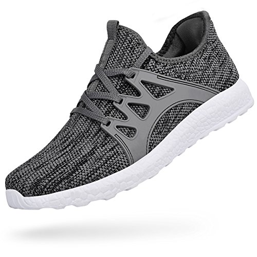 - Feetmat Mens Mesh Sneakers Mesh Lightweight Walking Athletic Shoes Grey White 8.5 D(M) US
