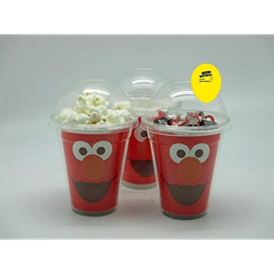 Set of 8 - Elmo Party Cups, Popcorn Cups, Goody Bags, Favor Boxes: Toys & Games