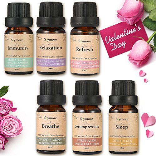 Skymore Top 6 Essential Oil Blend Gift Set  100  Pure Aromatherapy Oils For Diffuser  Best Therapeutic Grade Essential Oil Kit   6 10Ml  Sleep  Breathe  Relaxation  Refresh  Immunity  Decompression