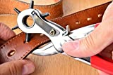 Pindia 1Pc Revolving Belt Hole Punching Machine Leather Punching / Drilling Tool Hand Plier Tool With 6 Hole Sizes