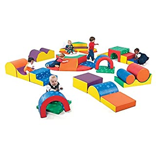 Children's Factory Gross Motor Play Group, Kids 28 Piece Indoor Play Equipment, Toddler Climbing/Crawling Toys, for Classroom/Preschool/Homeschool