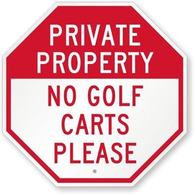 Amazon.com: Propiedad Privada – Ningún Signo Golf Carts por ...