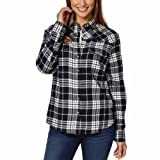 Jachs Girlfriend Ladies Flannel Shirt (S, BLACK)