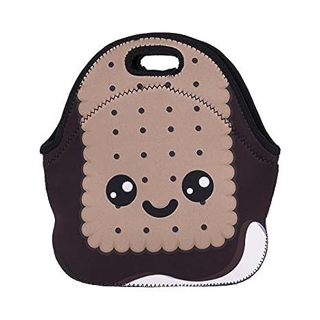 Tskybag Girls Boys Kids lunch bag zipper neoprene termico resistente all' acqua di raffreddamento isolato Carry Bag Tote food Holder scuola viaggio picnic box contenitore Biscut Face